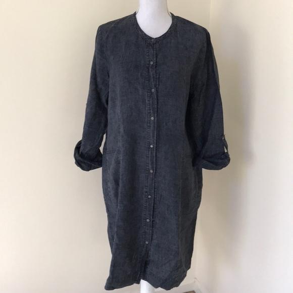 Eileen Fisher Dresses & Skirts - Eileen Fisher large linen button down dress
